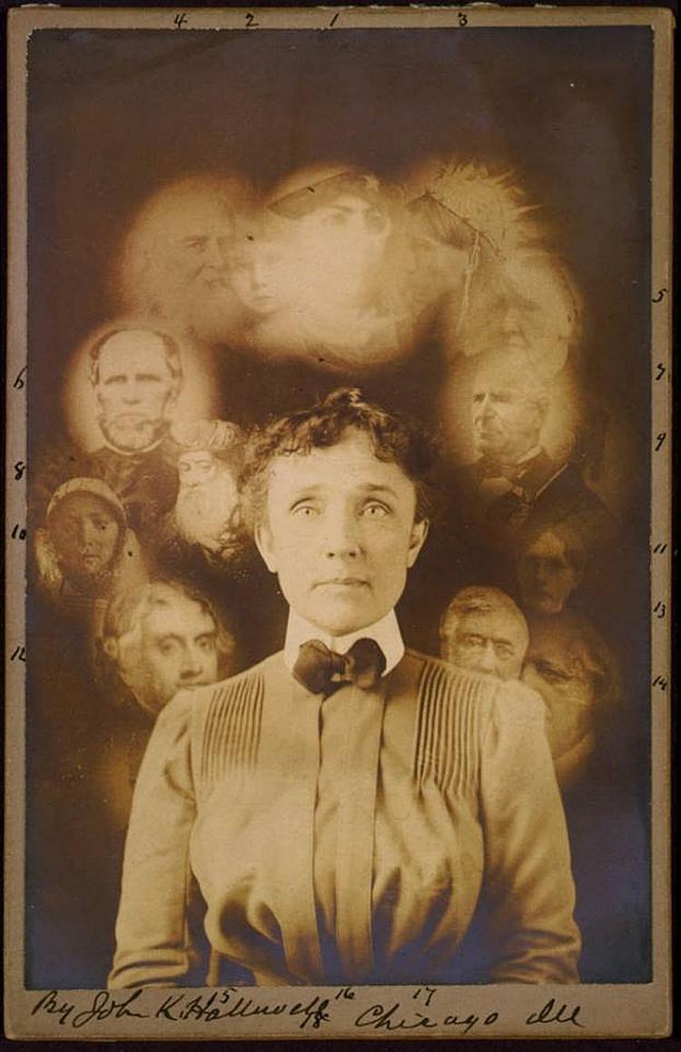 fotograf William H. Mumler podwójna ekspozycji