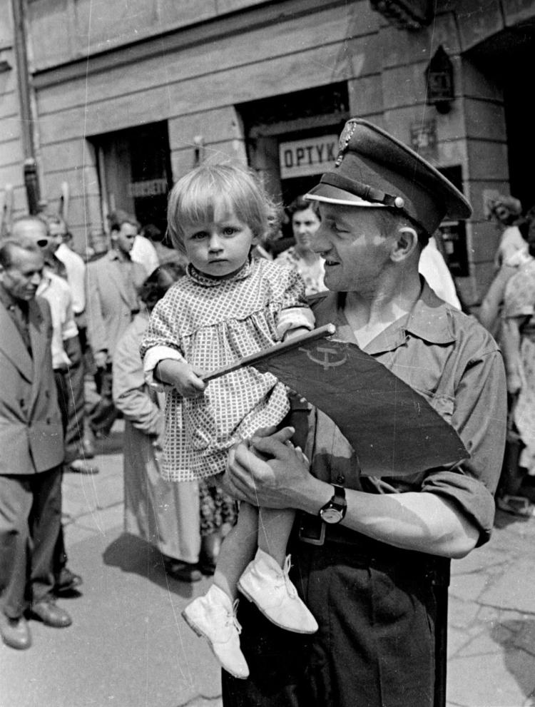 Wizyta Chruszczowa w Warszawie, 1959 fot. Romuald Broniarek/KARTA