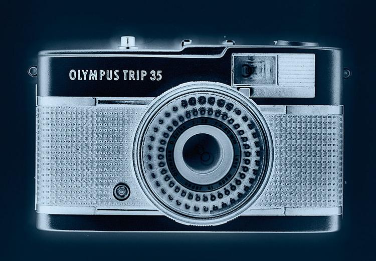 """""""Rentgenowskie"""" zdjęcie aparatu Olympus."""