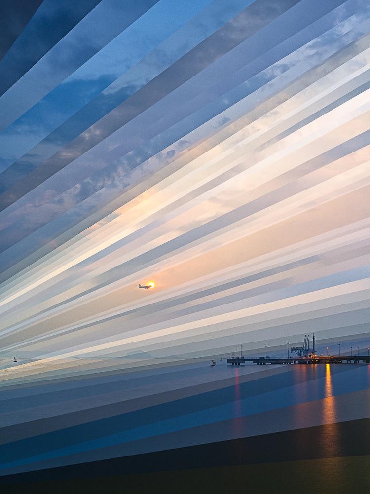 """""""Wschód słońca na plaży Changi"""", fot. Fong Qi Wei"""