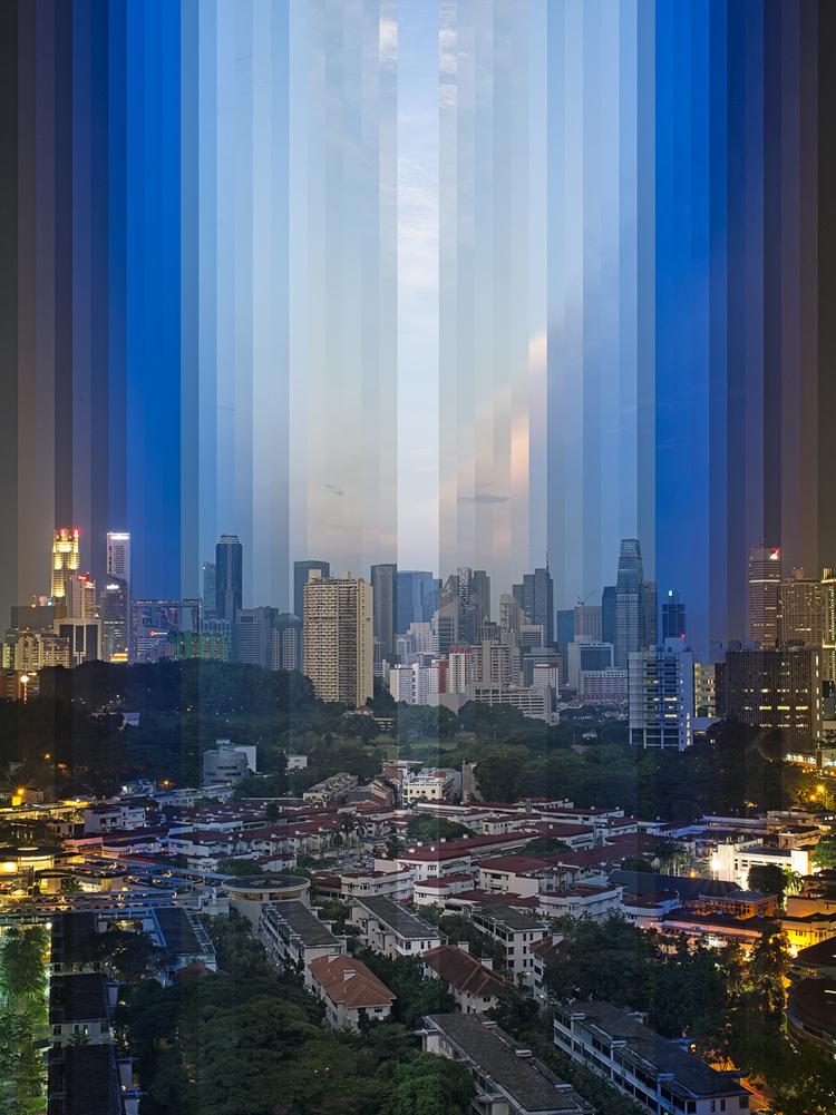 """""""Zachód słońca nad Tiong Bahru"""", fot. Fong Qi Wei"""