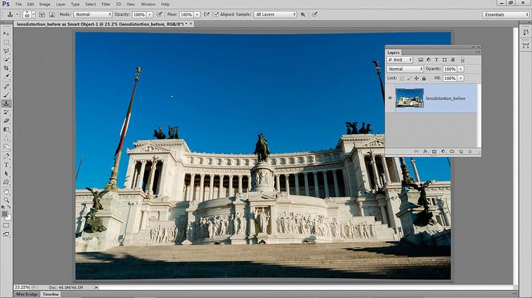 Otwieramy obiekt inteligentny Naciśnij [Shift] i zobacz, jak przycisk Otwórz obraz zamienia się na Otwórz obiekt. Kliknij go, aby otworzyć zdjęcie w Photoshopie jako obiekt inteligentny. Żeby znowu otworzyć obraz w ACR, wystarczy dwukrotnie kliknąć miniaturę obiektu inteligentnego na palecie warstw.