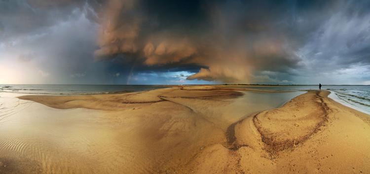 Plaża na Wyspie Sobieszewskiej w Gdańsku, fotograf Karol Nienartowicz