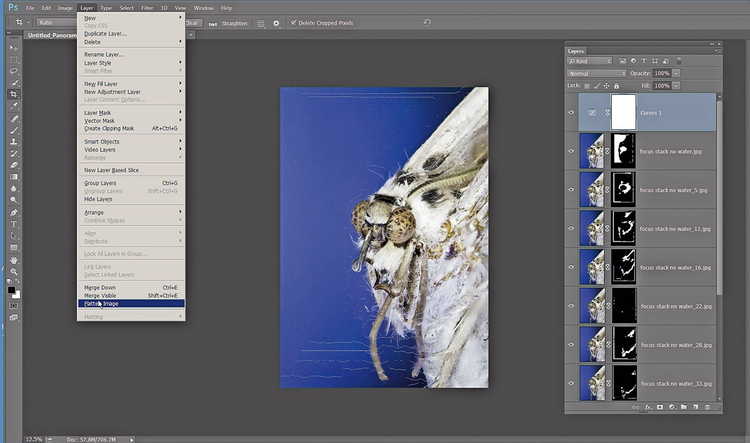 Nadaj ostatni szlif Teraz można wprowadzić do zdjęć ostatnie poprawki. Nieco przycięliśmy nasz obrazek i dodaliśmy nową warstwę dopasowania Krzywe, aby zwiększyć kontrast obrazu.