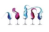 Sfotografuj i opracuj graficznie zdjęcia rozlewanego wina