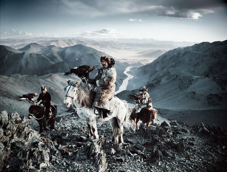 Mongolscy Kazachowie, fot. Jimmy Nelson.