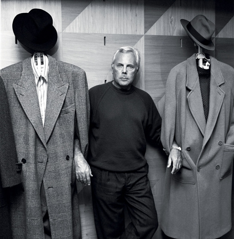 "Georgio Armani z cyklu ""Legends"", fot. Volker Hinz"