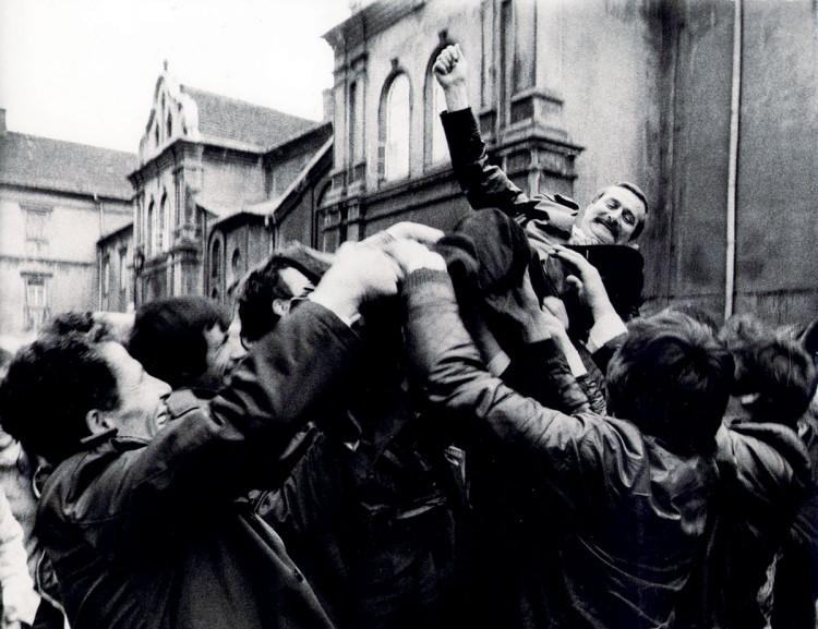 powitanie Wałęsy fotograf Chris Niedenthal