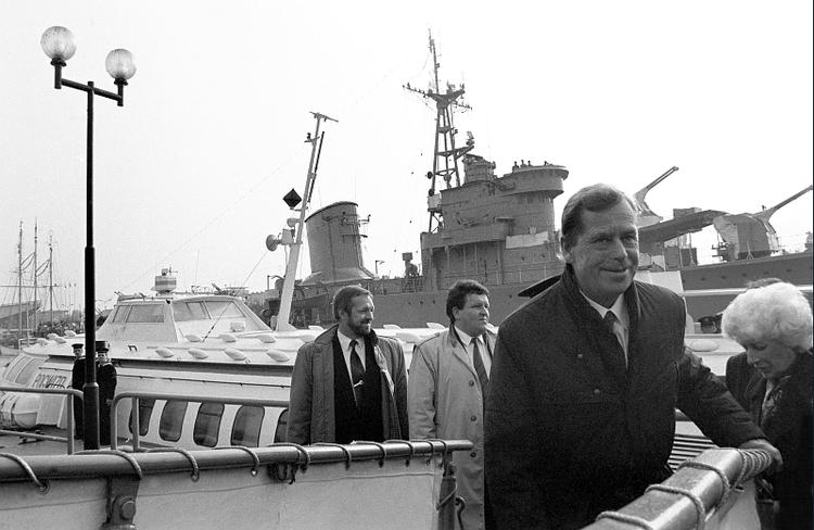 Z oficjalną wizytą w Gdańsku, 7 września 1992, fot. Přemysl Fialka