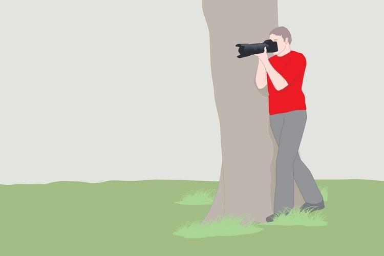 Podpora Oprzyj się o jakiś naturalny element krajobrazu, taki jak pień drzewa czy latarnię, i dociśnij do niego aparat. Kiedy będziesz już skupiony i gotowy do wykonania zdjęcia, rozluźnij się i uspokój oddech. Zdjęcie wykonuj podczas wydechu, ponieważ wówczas Twoje ciało będzie mniej spięte.