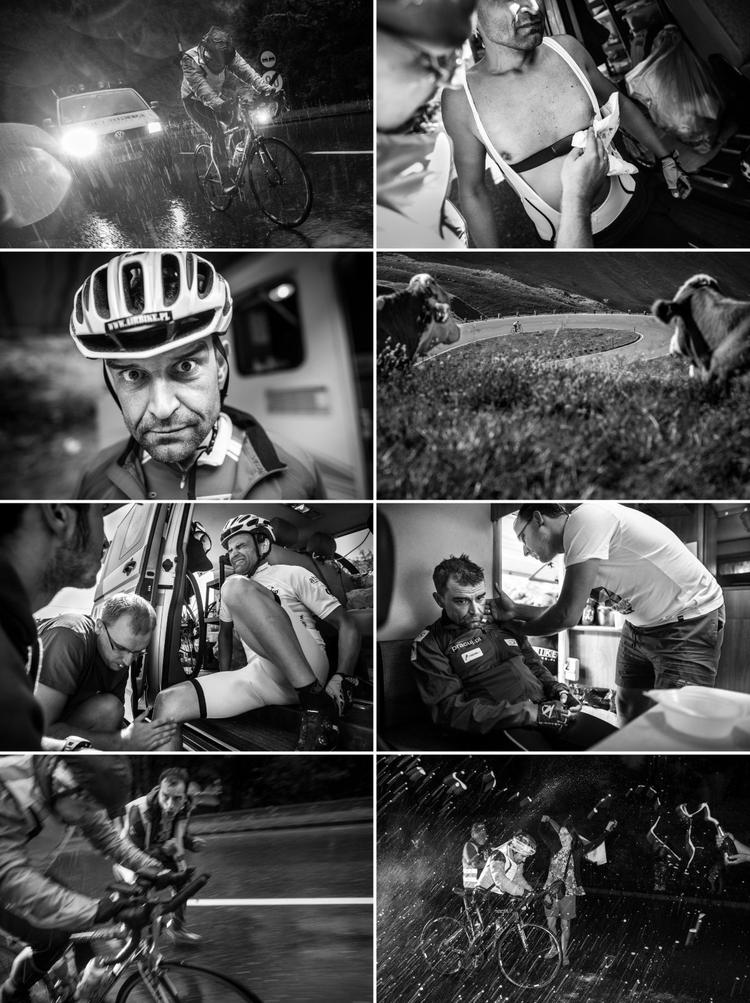 I miejsce, Seria zdjęć, Kategoria fotografów zawodowych   Jacek Turczyk (Polska Agencja Prasowa), 15-21.08.2013, Austria. Wyścig Race Around Austria. Start analityka Remigiusza Siudzińskiego w wyścigu w Austrii, który pozwolił mu na zakwalifikowanie się do amerykańskiego ultramaratonu.