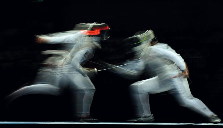 Dave Shopland, fotograf sportowy, Zawody szermiercze, Igrzyska Olimpijskie w Pekinie, 2008