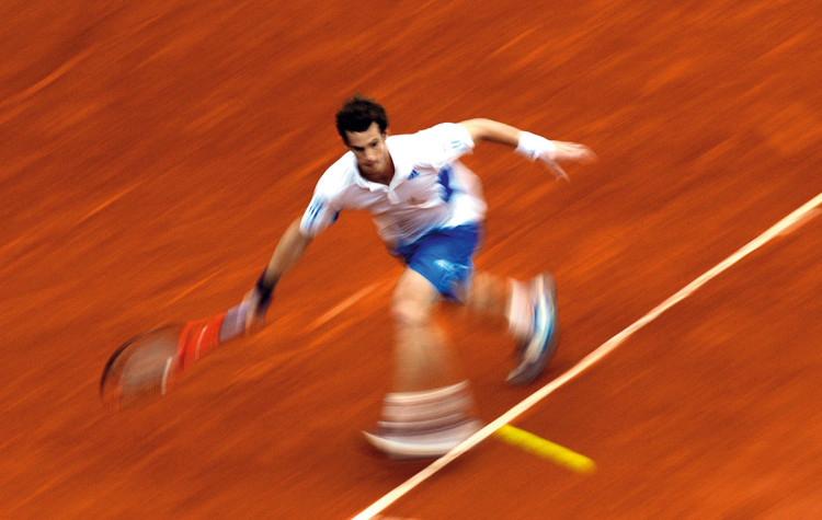 Dave Shopland, fotograf sportowy, Andy Murray, French Open, 2010