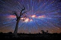 Użyj zoomu w nocnym krajobrazie
