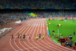Efekt miniatury na zdjęciu sportowym