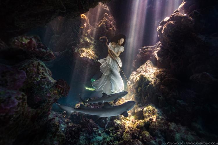 Pasterka rekinów - Benjamin Von Wong i jego kolejna podwodna sesja