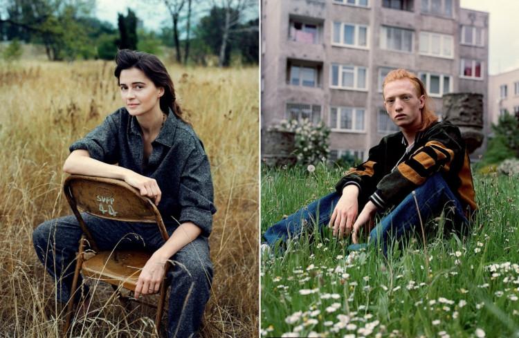 Na zdjęciu po lewej Agnieszka Grochowska, ELLE, po prawej - Emil , fot. Bartek Wieczorek.