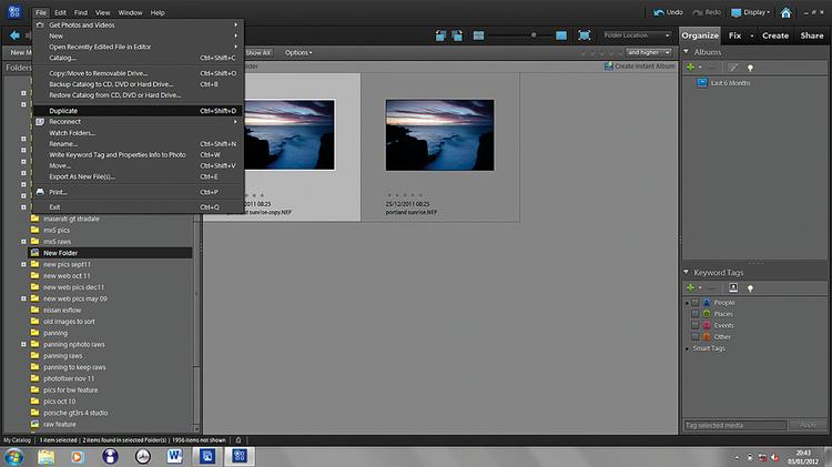Kopiujemy zdjęcieBy zaoszczędzić czas przy poprawkach, najlepiej zrobić na początku kopie pliku RAW. W ten sposób można indywidualnie, ale praktycznie jednocześnie poprawiać każdy z nich, zamiast poprawiać i edytować ten sam obraz dwukrotnie.